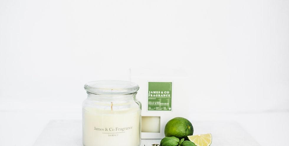 No. 11 Lime & Basil Jar Candle 60 hours burn time