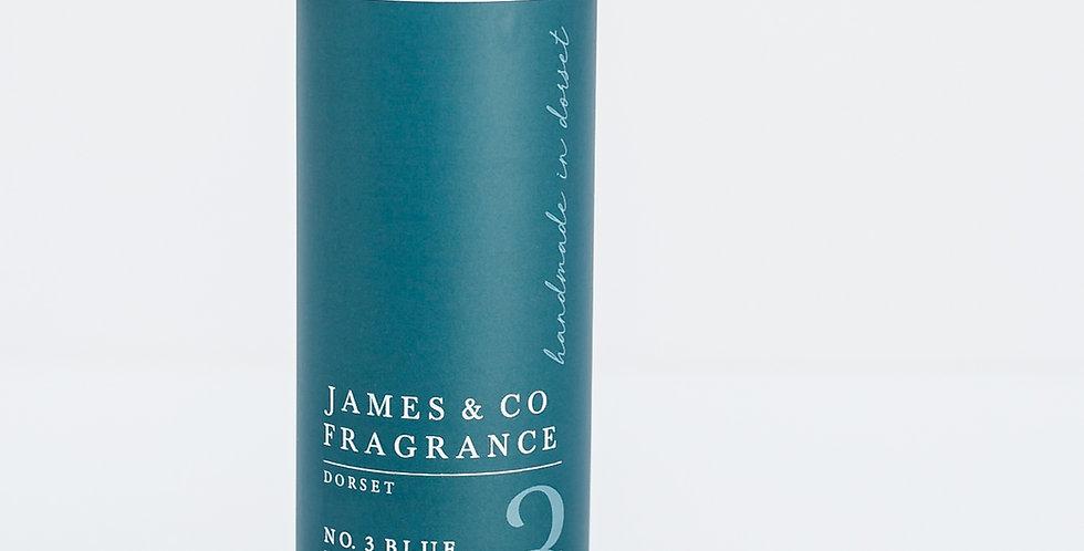 No. 3 Blue 200ml Refill Diffuser with Grey Fibre Reeds