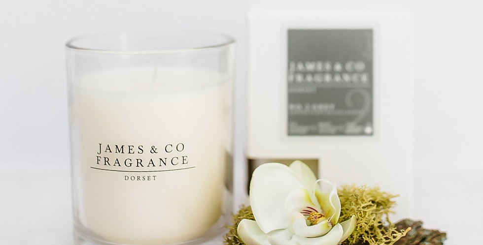 No. 2 Grey Glass Candle 35 hour burn time