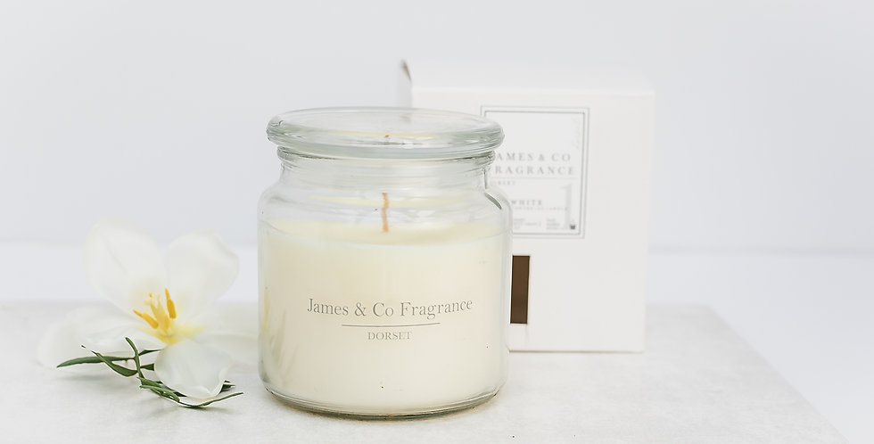 No. 1 White Jar Candle 60 hours burn time