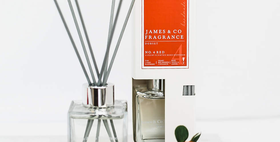 No. 4 Red 100ml Reed Diffuser