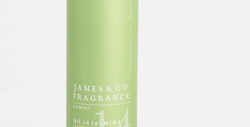 No. 14 Jasmine 200ml Refill Diffuser with Grey Fibre Reeds