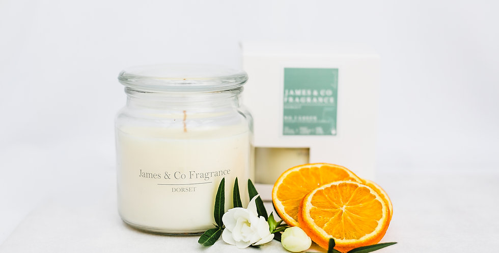 No. 5 Green Jar Candle 60 hour burn time