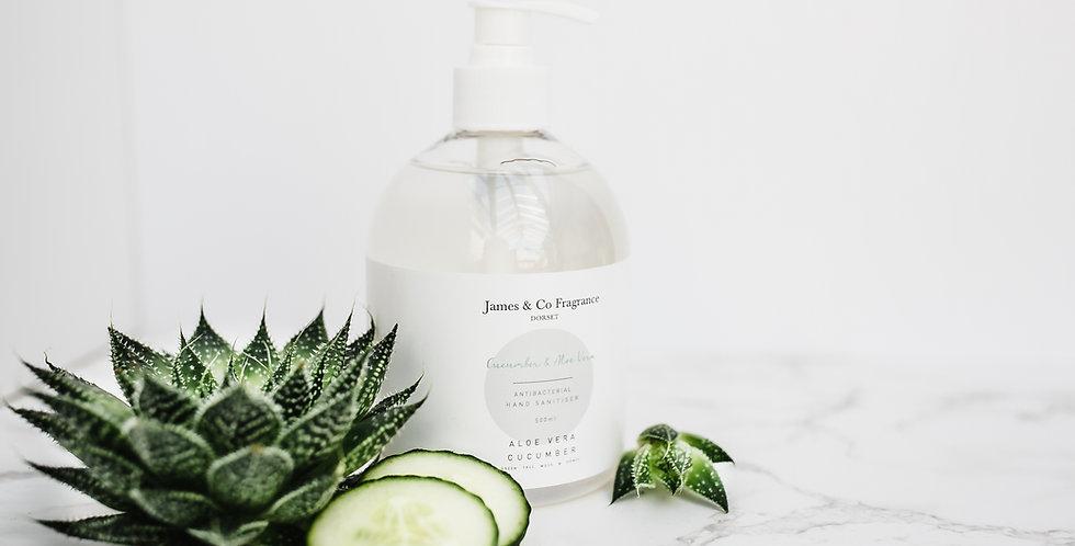 Antibacterial Hand Sanitiser Cucumber & Aloe Vera 500ml