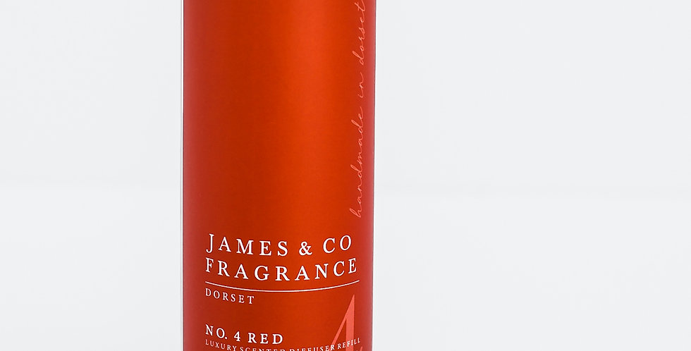 No. 4 Red 200ml Refill Diffuser with Grey Fibre Reeds