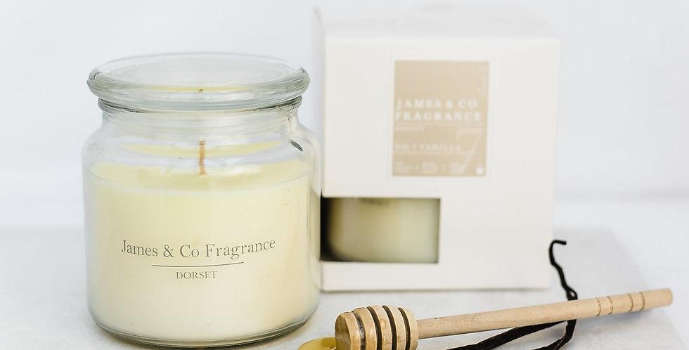 No. 7 Vanilla Jar Candle 60 hour burn time