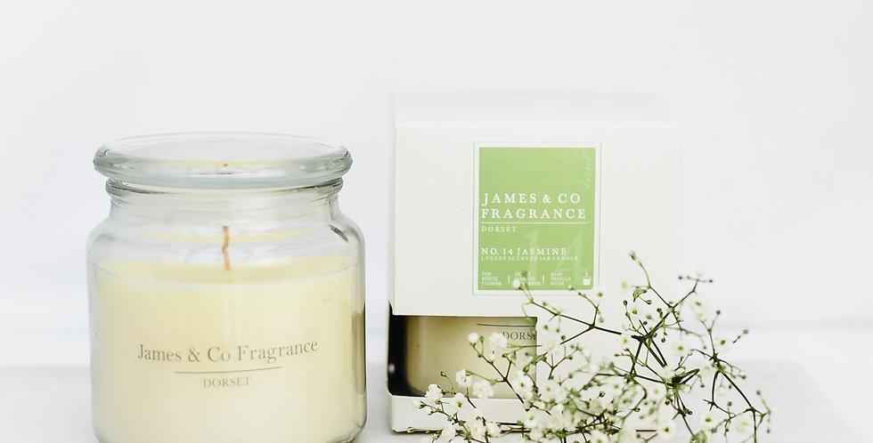 No. 14 Jasmine Jar Candle 60 hours burn time