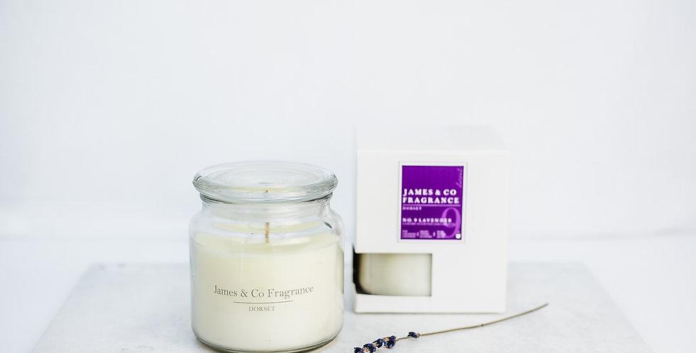 No. 9 Lavender Jar Candle 60 hours burn time