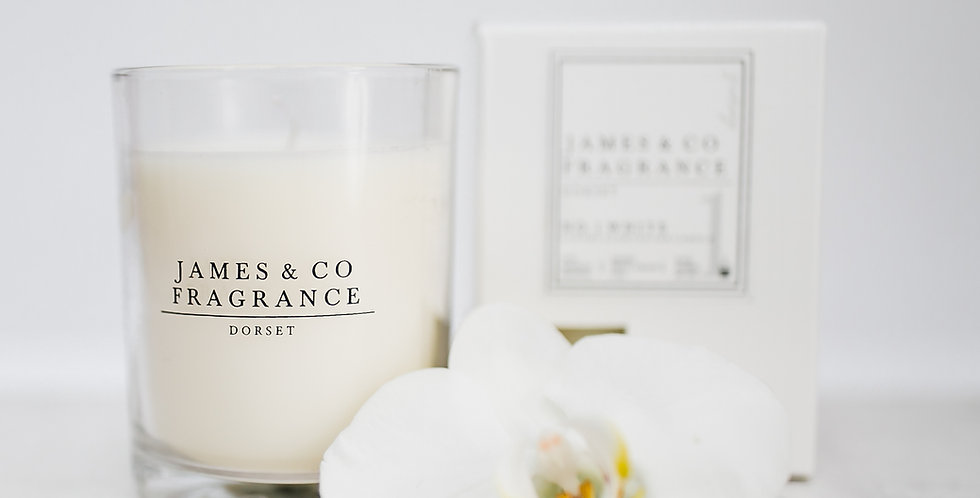 No. 1 White Glass Candle 35 hours burn time
