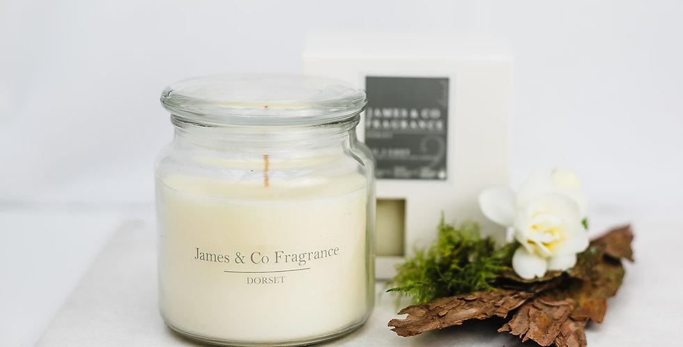 No. 2 Grey Jar Candle 60 hour burn time