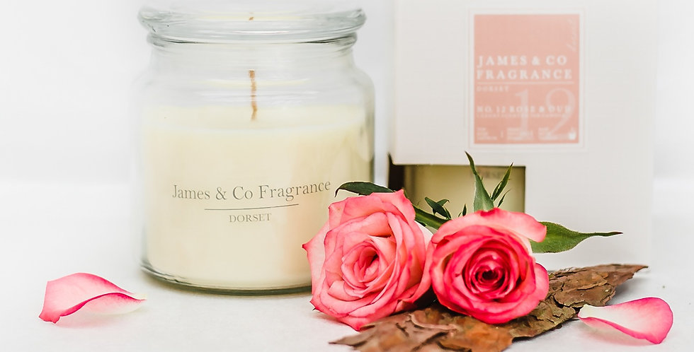 No. 12 Rose & Oud Jar Candle 60 hours burn time