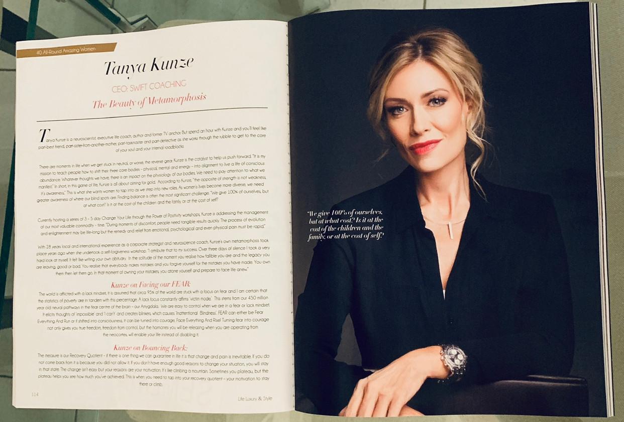 Life Luxury & Style Feature Tanya Kunze.