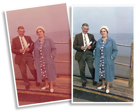 scanning and colour correcting