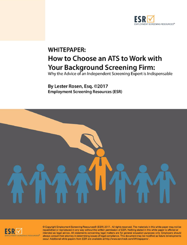 Employment Screening Resources Releases Whitepaper on How to Choose an ATS to Work with Your Backgro