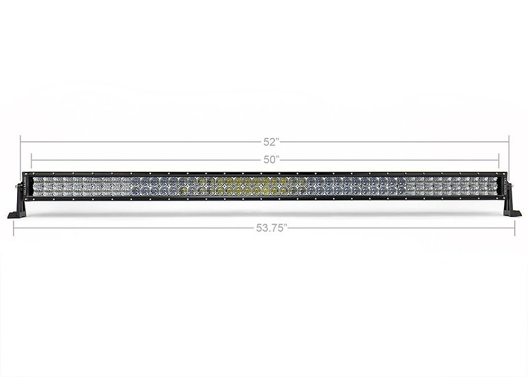"52"" CURVED 5D Dual Row 5D Optic OSRAM LED Bar"