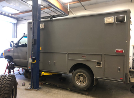This week in the shop...Ambulance 4x4 Conversion