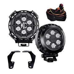 """"""" LZR LED - Round - Pillar / Ditch Mount for 10-20 Toyota 4Runner"""