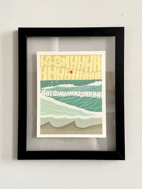 I Just Wanna Go to the Beach - 8 x10 Print