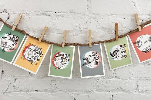 Pack of Six Postcard-Sized Art Prints
