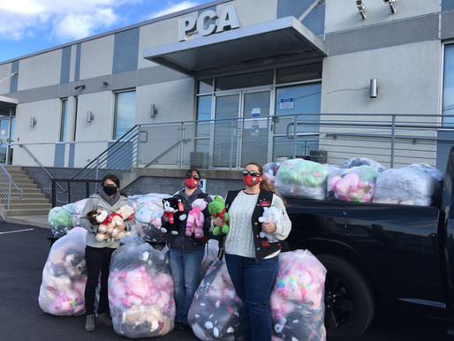 PCA Accepts Donation of 1,700 Stuffed Animals for Victims of Child Sexual Abuse