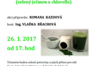 Přednáška ve Kdyni na téma zelených potravin 26/1