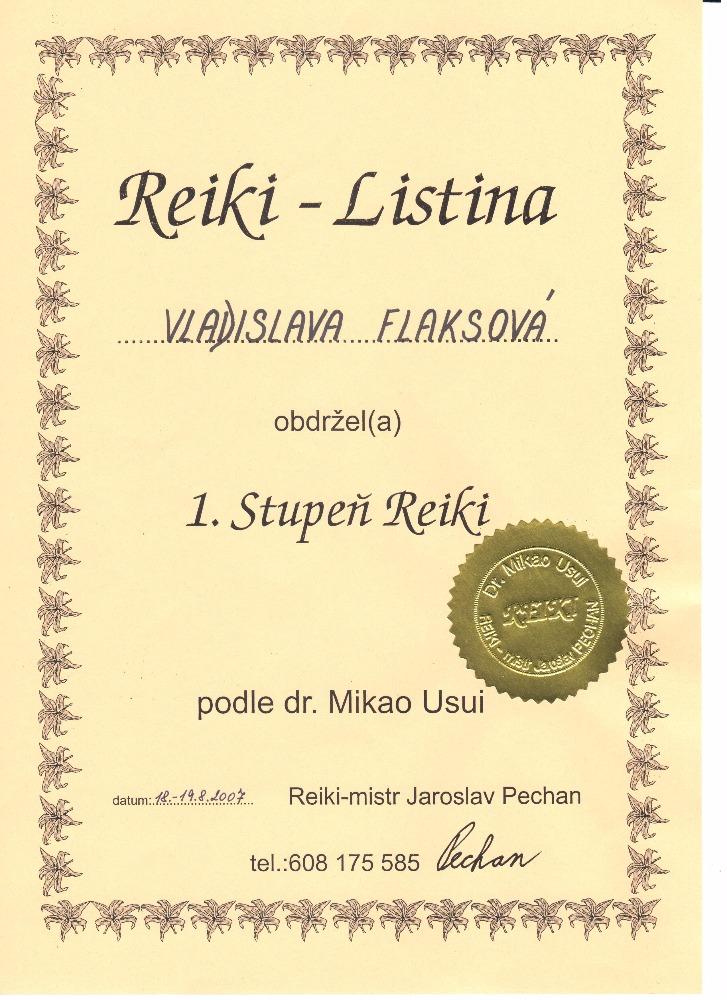 Usui Reiki I.