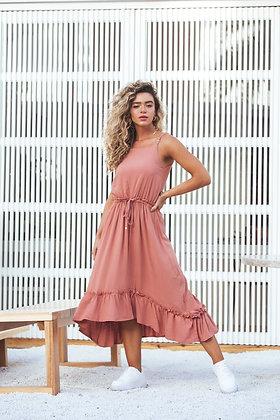 Vestido Flor do Deserto Bronzeado