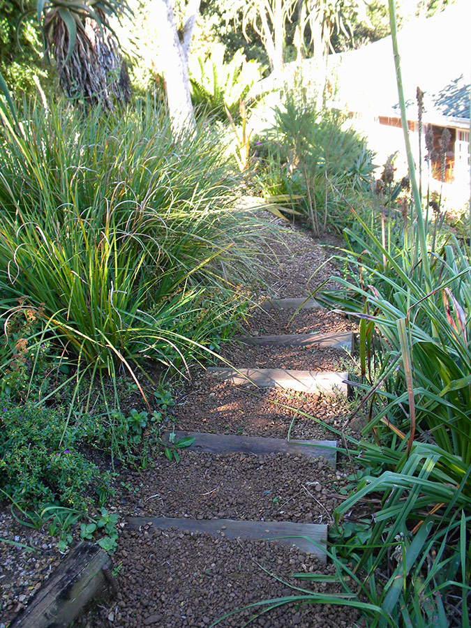 Wide steps for gentle slopes
