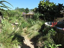 A short gravel access path