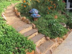 Decomposed granite path