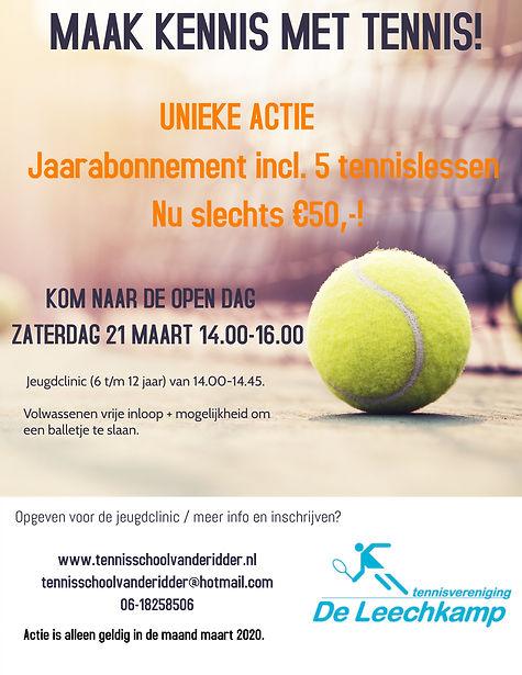 van Tennis Classes Coaching Camp Flyer