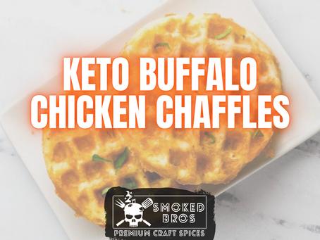 Keto Buffalo Chicken Chaffles