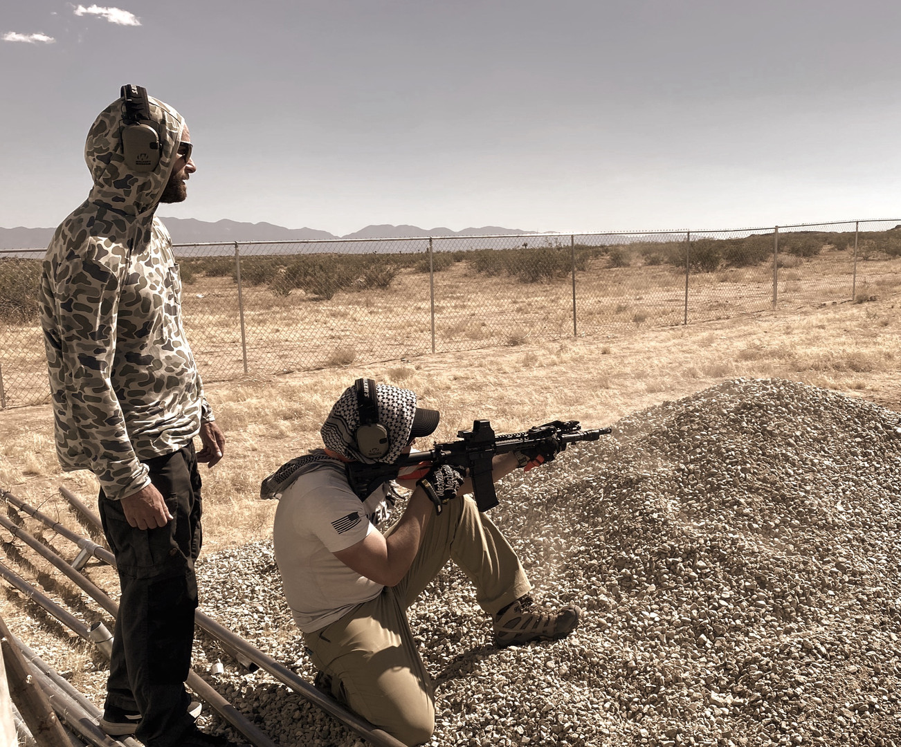 El Mirage Kneeling and Shooting
