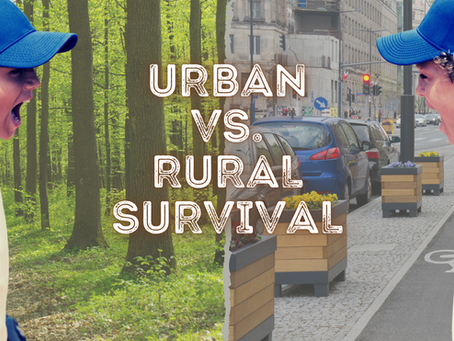 What survival skills are more important, urban or rural?