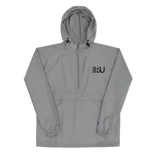 RU Embroidered Champion Packable Jacket