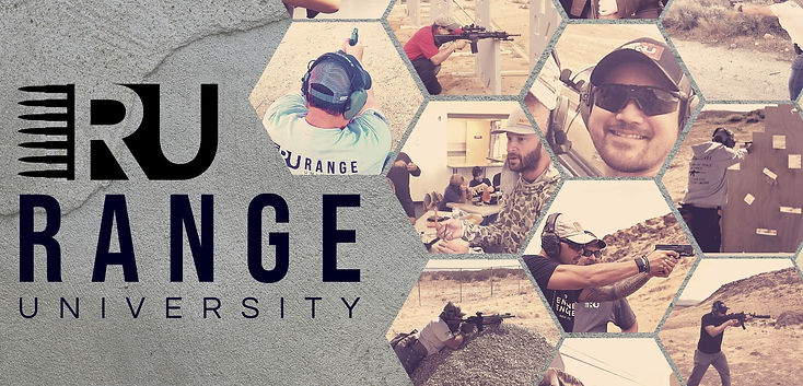 Range University Firearms Training Banner. Pistol Safety
