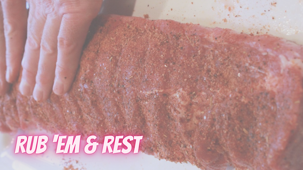 Rub your ribs and allow them to rest