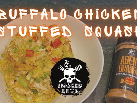 Buffalo Chicken Stuffed Spaghetti Squash