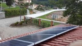 telhado com solar