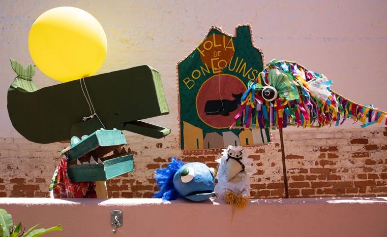 Primeiros Bonequins da Folia de Bonequins (foto: Gabriel Cabral)