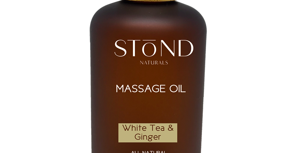White Tea & Ginger Massage Oil -250ml