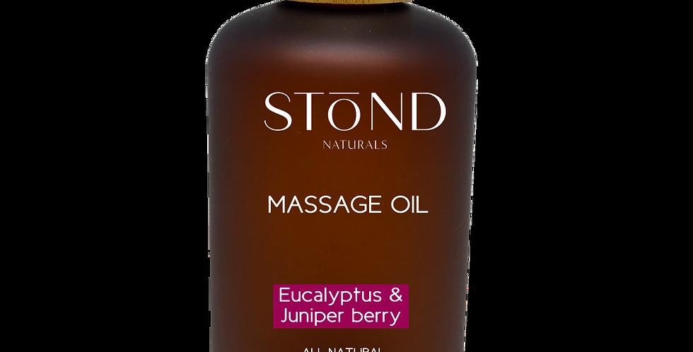 Eucalyptus & Juniper Berry Massage Oil -250ml