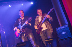 Klaus and Andre live on stage