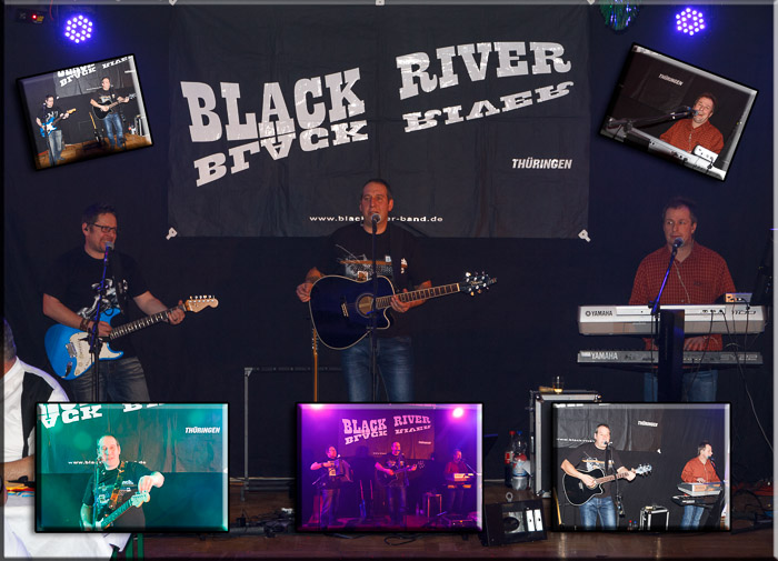 Black River light live on stage