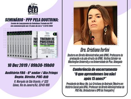 """SÓCIA CRISTINA FORTINI PARTICIPA DO """"SEMINÁRIO PPP PELA DOUTRINA"""