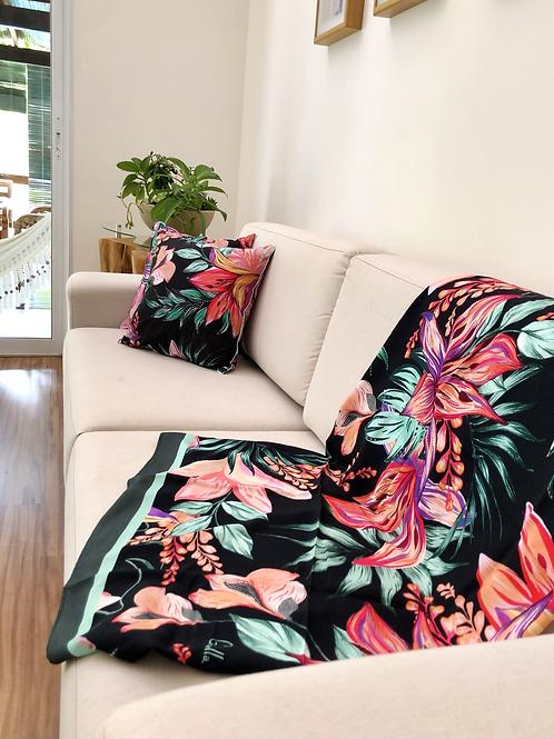 Dupla de capas de almofadas + Panô Midnight Bloom