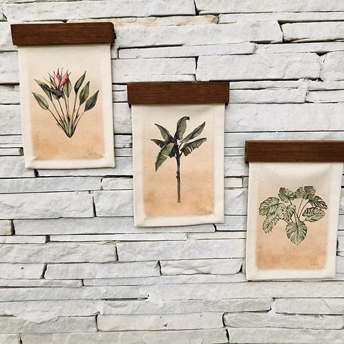 Mini Trio de Tapeçarias Botânica
