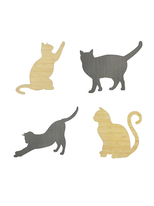 Cats - Shapes (set of 4)