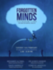 Image of a poster for the Forgotten Minds lecture series