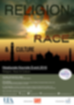 Image of a poster for the Headucate Keynote Event 2016 on Religion, Race, and Culture